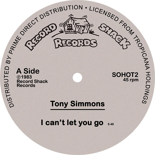 """Tony Simmons/I CAN'T LET YOU GO 12"""""""
