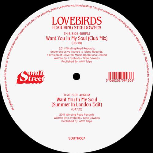 "Lovebirds/WANT YOU IN MY SOUL 12"""