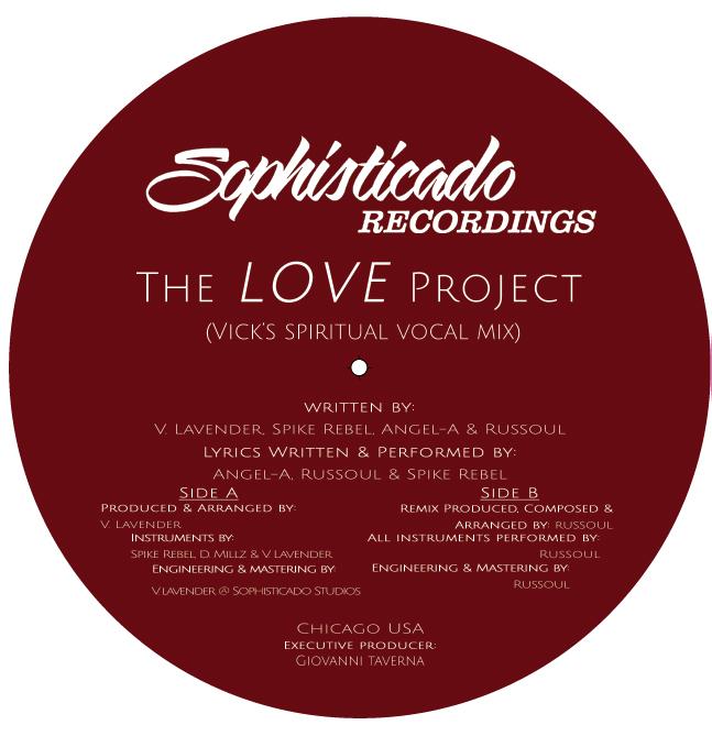 "Vick Lavender/THE LOVE PROJECT 12"""