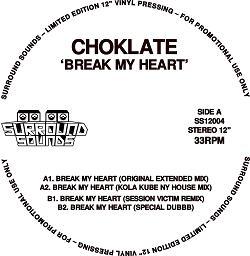"""Choklate/BREAK MY HEART 12"""""""