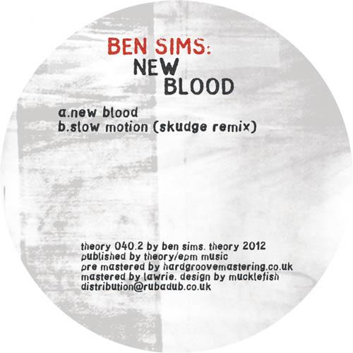 "Ben Sims/NEW BLOOD 12"""