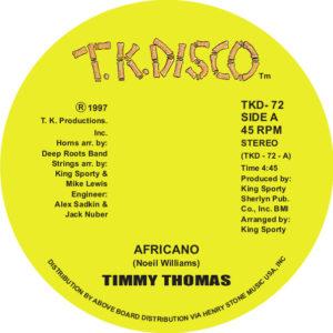 "Timmy Thomas/AFRICANO 12"""