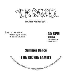 "Richie Family/SUMMER DANCE-D. KRIVIT 12"""