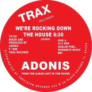 """Adonis/WE'RE ROCKIN DOWN THE HOUSE 12"""""""