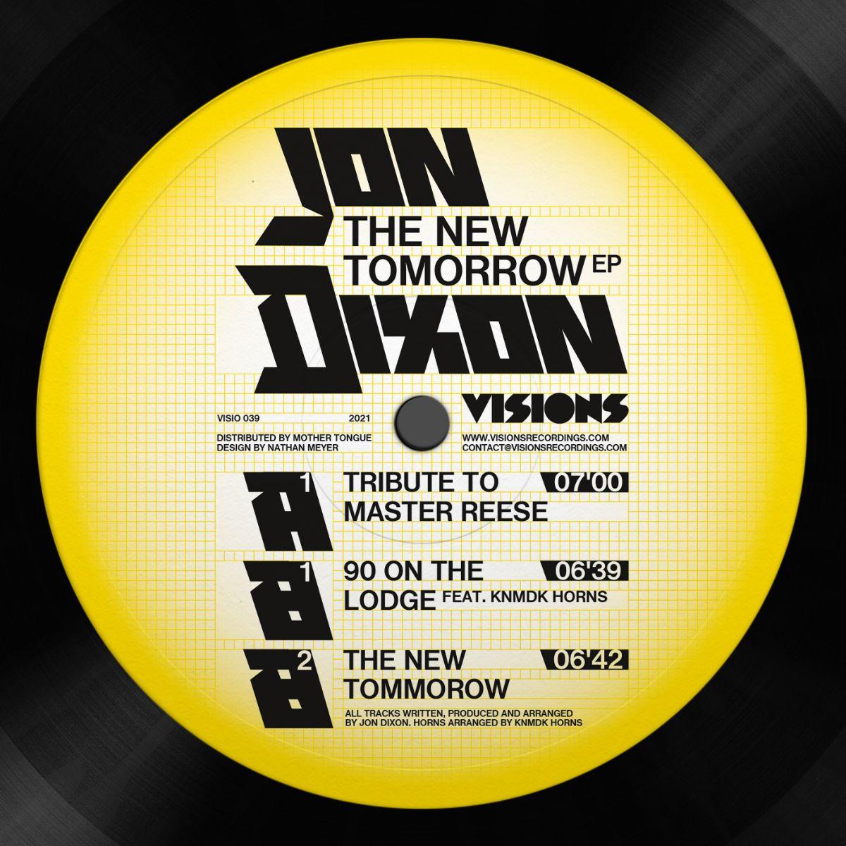 "Jon Dixon/THE NEW TOMORROW EP 12"""