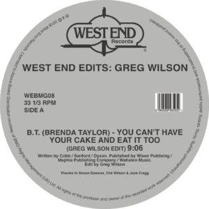 """Greg Wilson/WEST END EDITS D12"""""""