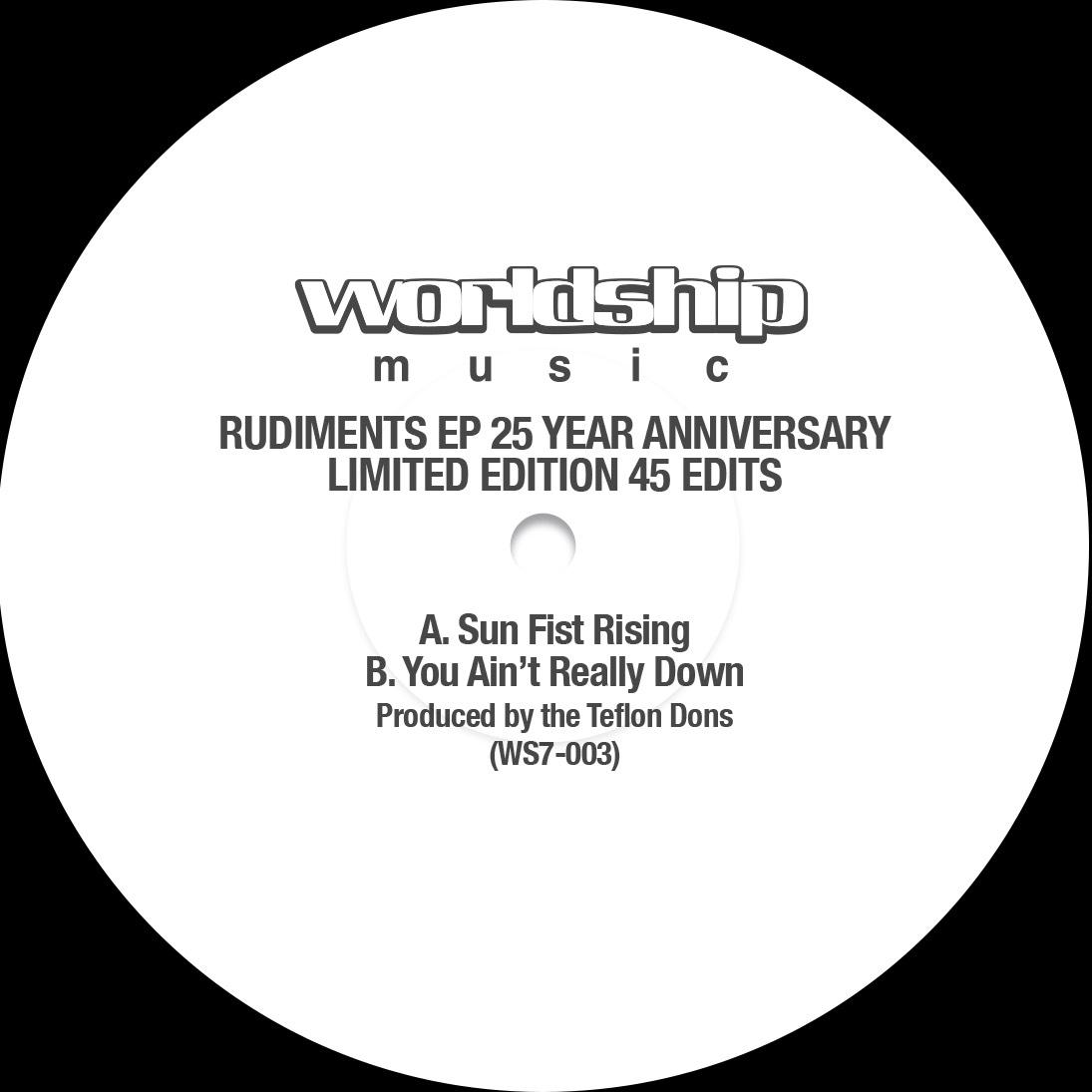 """Teflon Dons/RUDIMENTS EP 25 ANNIV 7"""""""