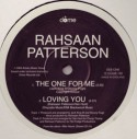 """Rahsaan Patterson/THE ONE FOR ME 12"""""""