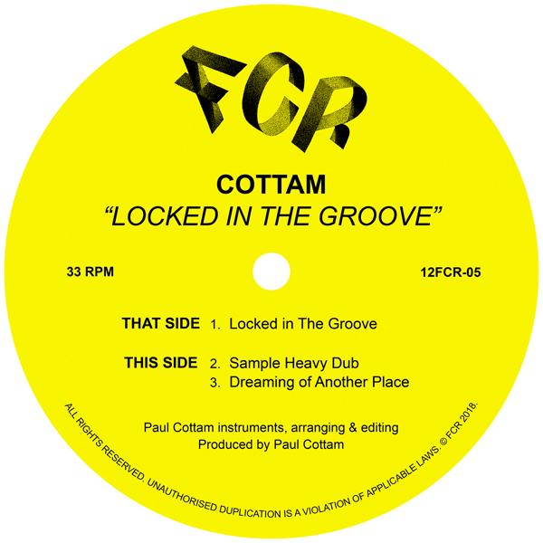 Cottam/LOCKED IN THE GROOVE 12""