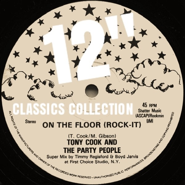 """Tony Cook & The Party People/ON THE..12"""""""