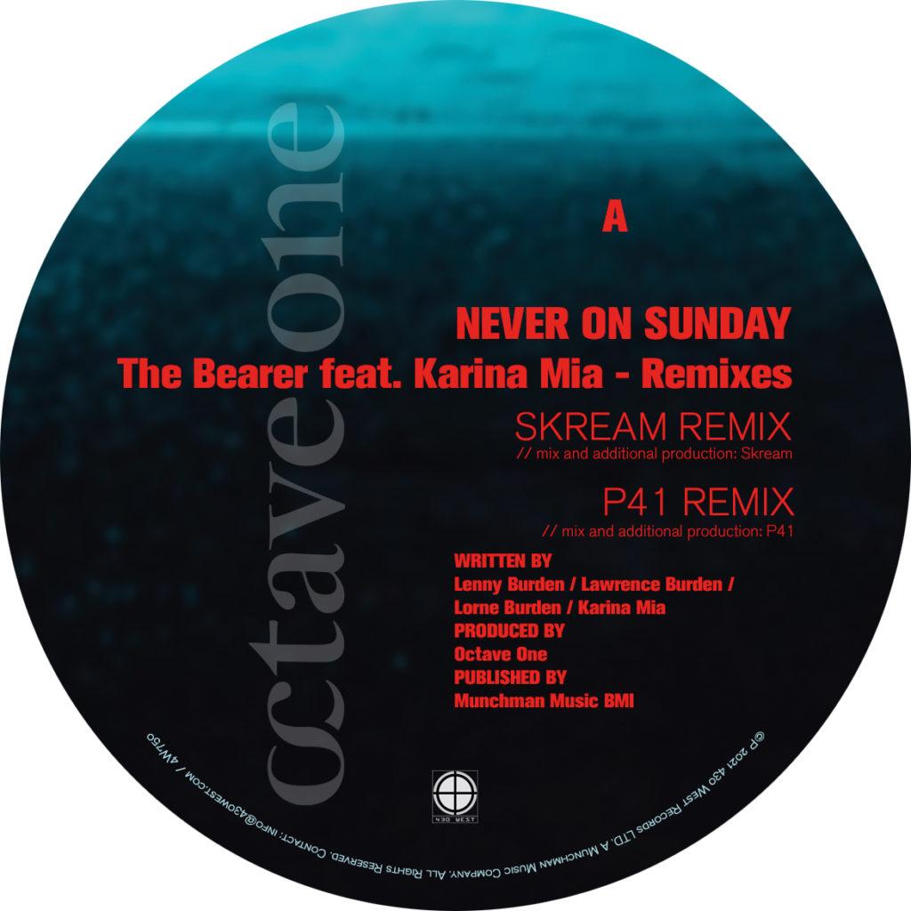 "Never On Sunday/THE BEARER REMIXES 12"""