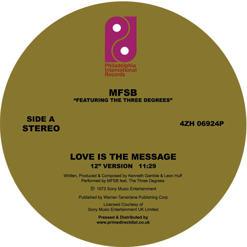MFSB/LOVE IS THE MESSAGE 12""