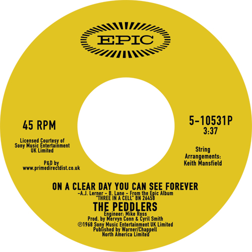 Peddlers/ON A CLEAR DAY YOU CAN SEE.. 7""