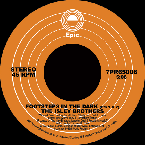 Isley Brothers/FOOTSTEPS IN THE DARK 7""