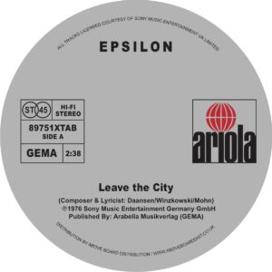 Epsilon/LEAVE THE CITY 12""