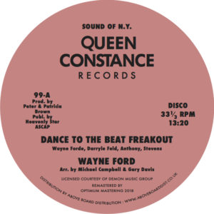"""Wayne Ford/DANCE TO THE BEAT... 12"""""""