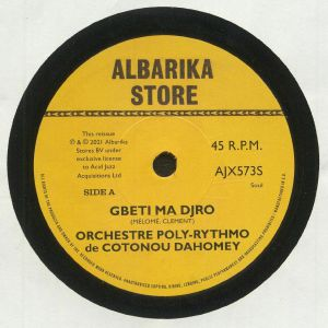"Orchestre Poly Rythmo/GBETI MA DJRO 7"""