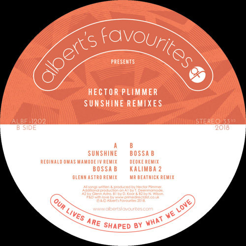 "Hector Plimmer/SUNSHINE REMIXES 12"""