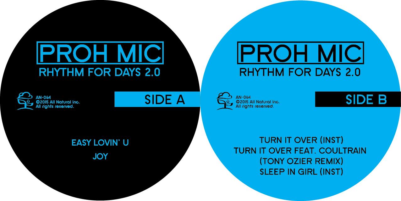 "Proh Mic/RHYTHM FOR DAYS 2.0 12"""