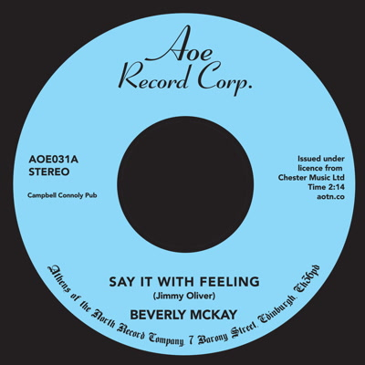Beverly McKay/SAY IT WITH FEELING 7""