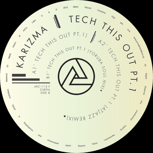 Karizma/TECH THIS OUT PT. 1 12""