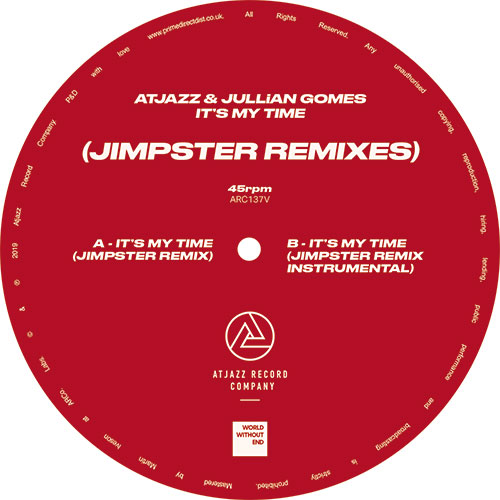Atjazz/IT'S MY TIME (JIMPSTER REMIX) 12""