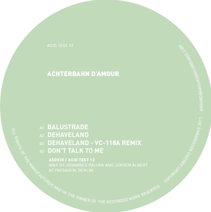 Achterbahn D'amour/ACID TEST 13 12""