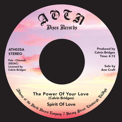 Spirit of Love/THE POWER OF YOUR LOVE 7""