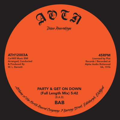B.A.B./PARTY & GET ON DOWN 12""