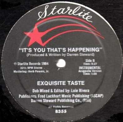 "Exquisite Taste/IT'S YOU THAT'S... 12"""