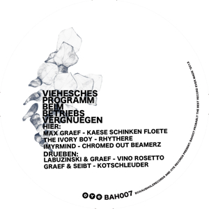 "Various/BOX AUS HOLZ & OYE - BAH007 12"""