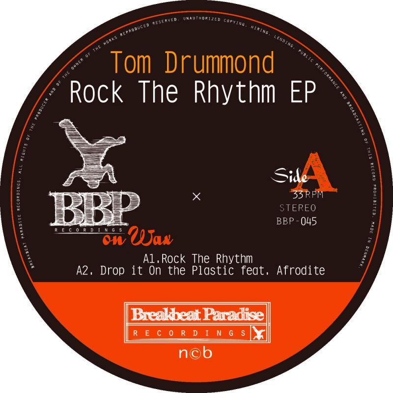 "Tom Drummond/ROCK THE RHYTHM  12"""