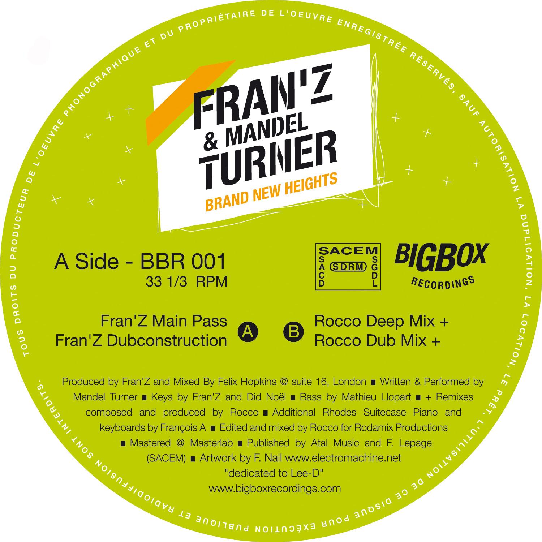 "Franz & Mandel Turner/BRAND NEW... 12"""