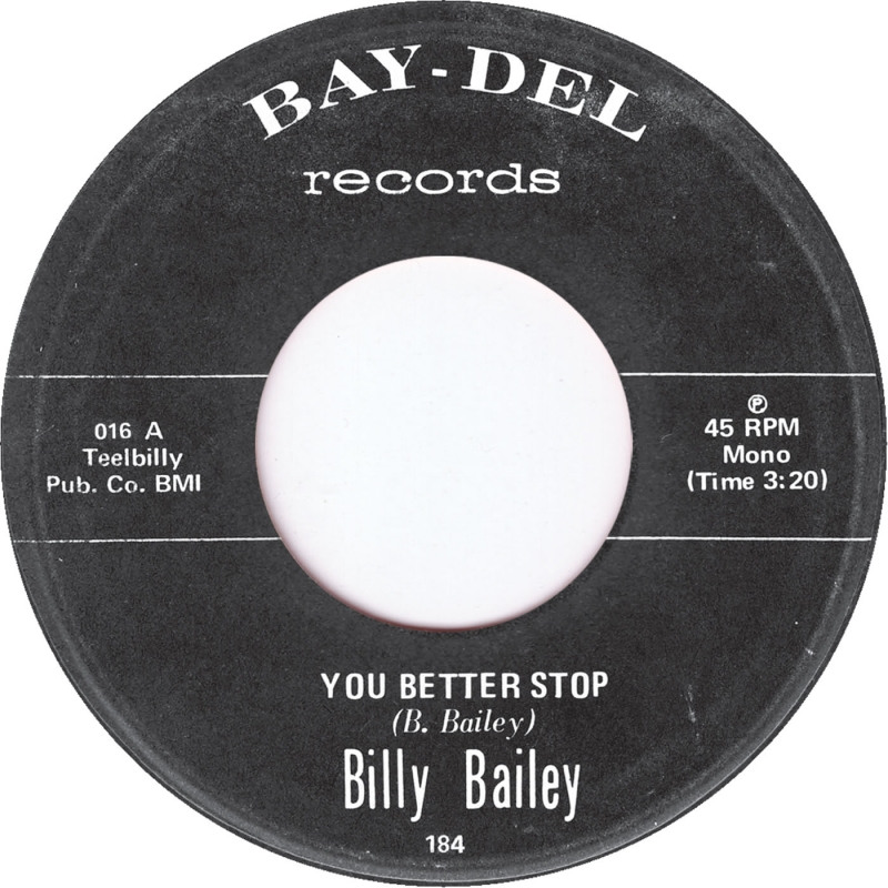 Billy Bailey/YOU BETTER STOP 7""