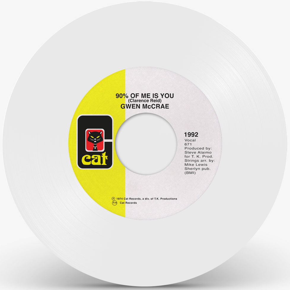 """Gwen McCrae/90% OF ME IS YOU (WHITE) 7"""""""