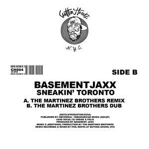 "Basement Jaxx/SNEAKIN' TORONTO RMXS 12"""