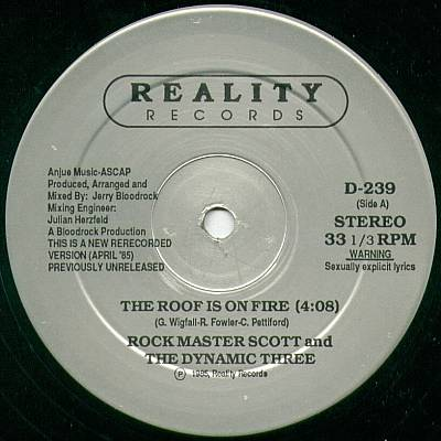 Rock Master Scott/THE ROOF IS ON... 12""