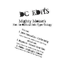 DC Edits/VOLUME ONE 12""