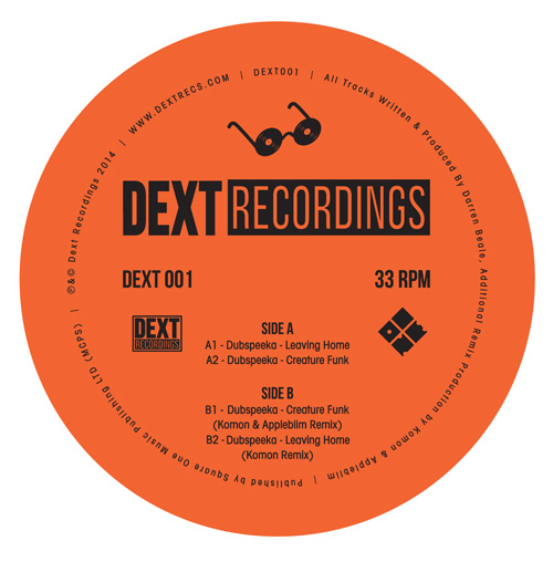 Dubspeeka/LEAVING HOME (KOMON REMIX) 12""