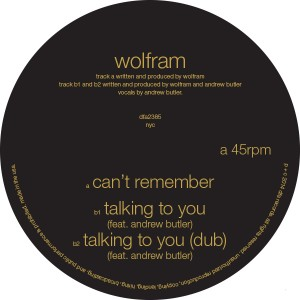 """Wolfram/CAN'T REMEMBER & TALKING... 12"""""""