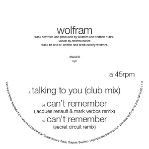 Wolfram/CAN'T REMEMBER & TALKING RMX 12""
