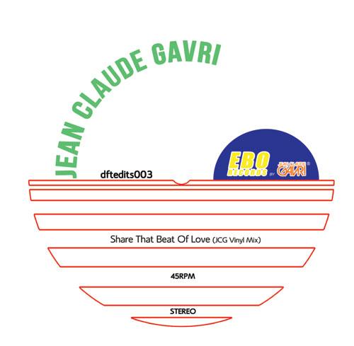 """Jean Claude Gavri/SHARE THE BEAT... 12"""""""