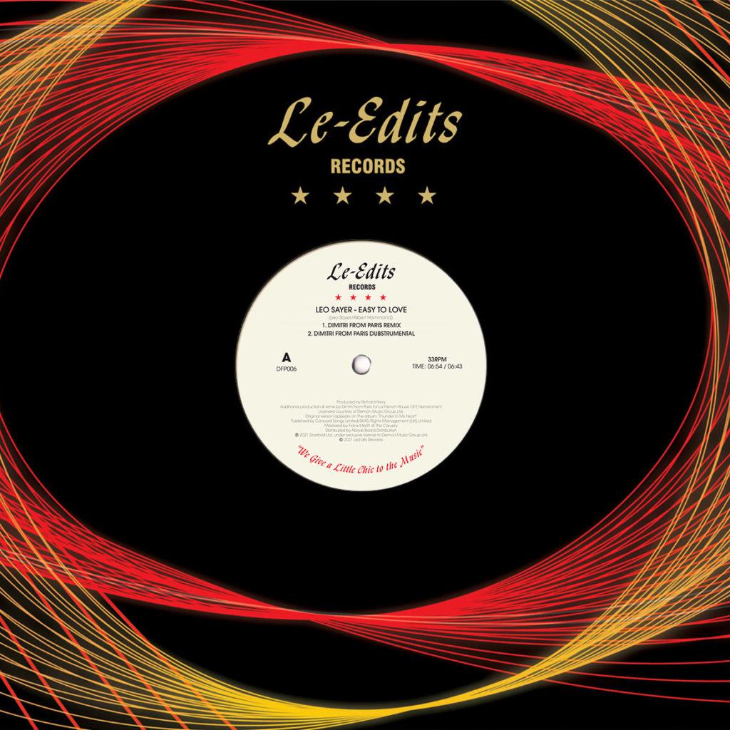 """Leo Sayer/EASY TO LOVE (DIMITRI FP) 12"""""""