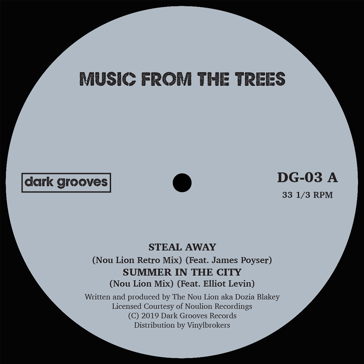 """Music From The Trees/STEAL AWAY 12"""""""