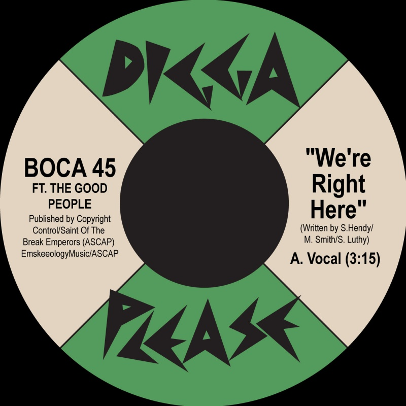 """Boca 45/WE'RE RIGHT HERE 7"""""""