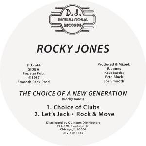 "Rocky Jones/CHOICE OF A GENERATION 12"""