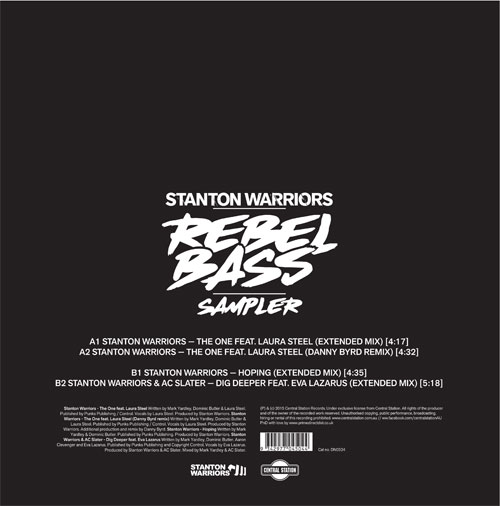 "Stanton Warriors/REBEL BASS SAMPLER 12"""