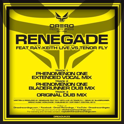 """Renegade & Ray Keith/PHENOMENON ONE 12"""""""