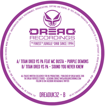 "Titan Dred/PURPLE DEMONS EP 12"""