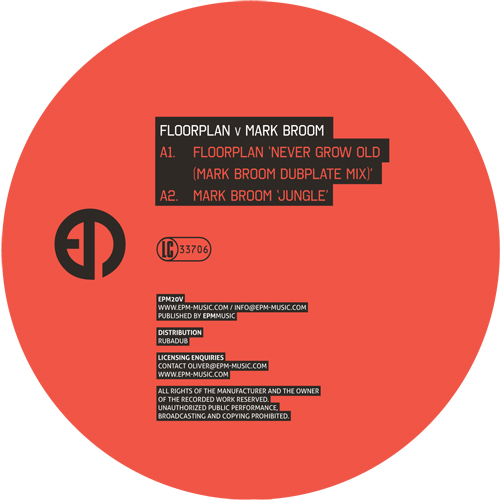 Floorplan vs Mark Broom/NEVER GROW.. 12""